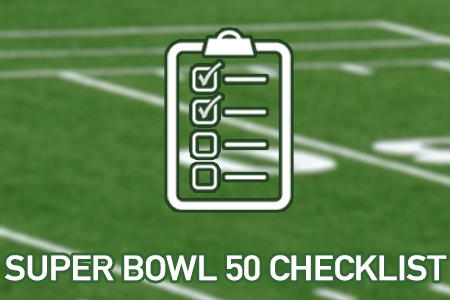 Super Bowl 50 Checklist